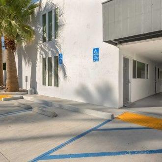 ADA accessible parking adjacent to ADA Unit #103