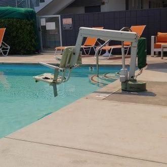 Pool Chair Lift Rear