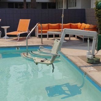 Pool Chair Lift Side