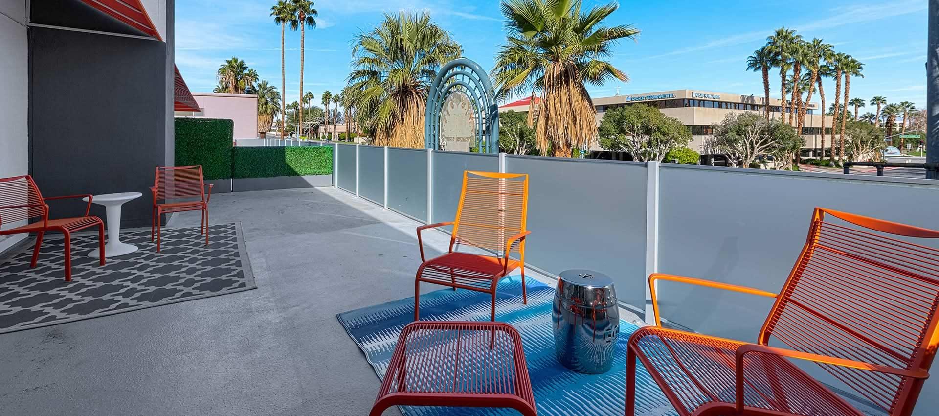 twist hotel room 218 patio