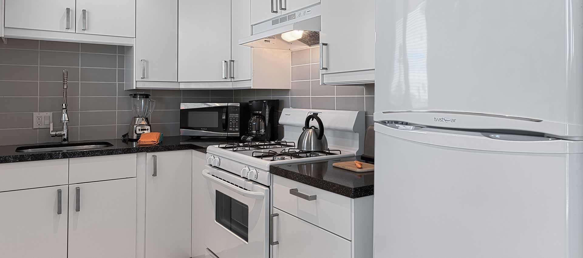 twist hotel room 219 kitchen