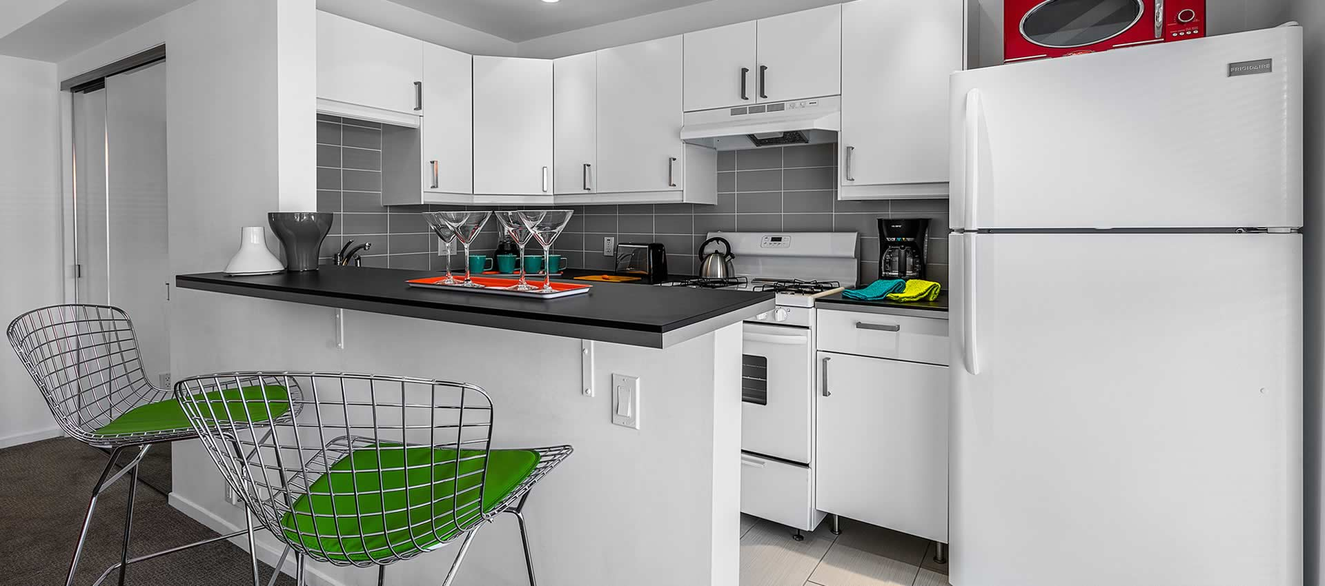 the kitchen of twist hotel room 221