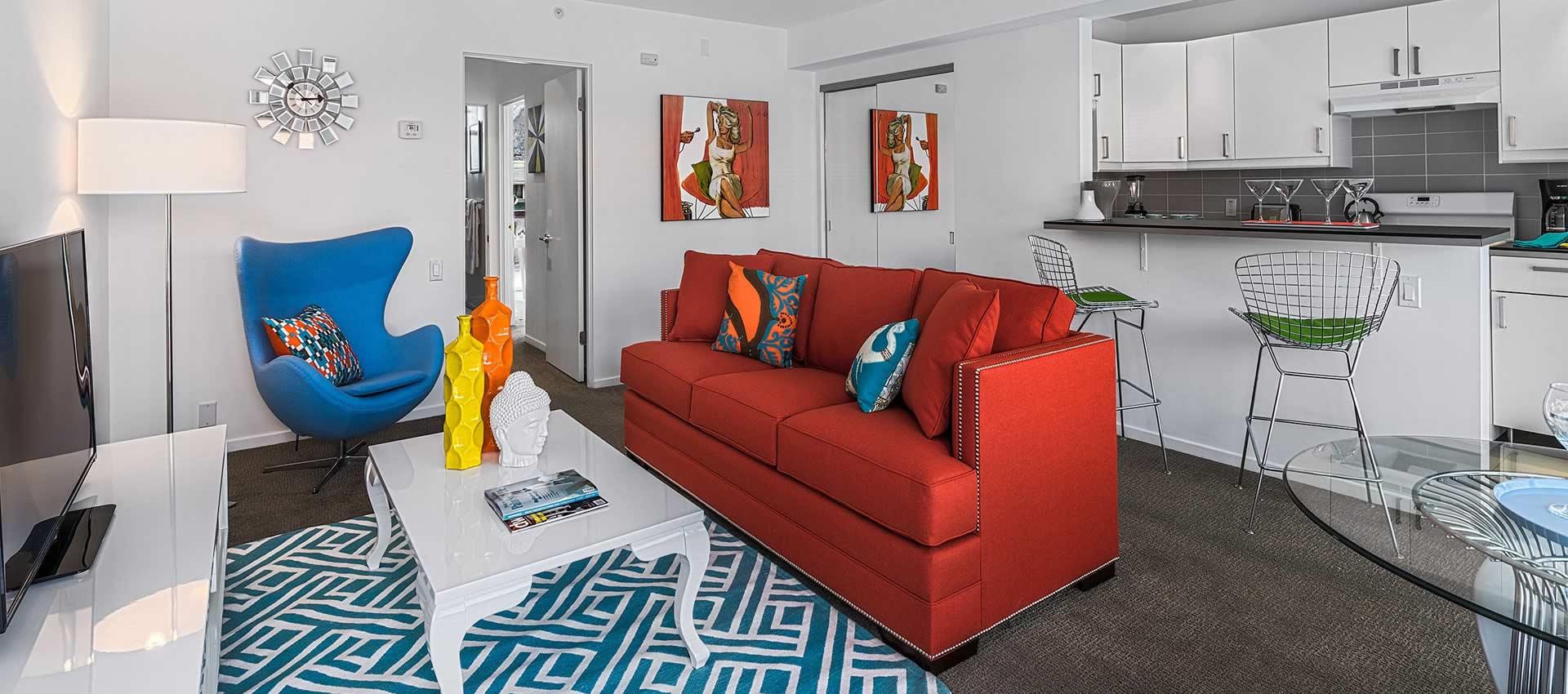 twist hotel room 221 ivingroom and kitchen