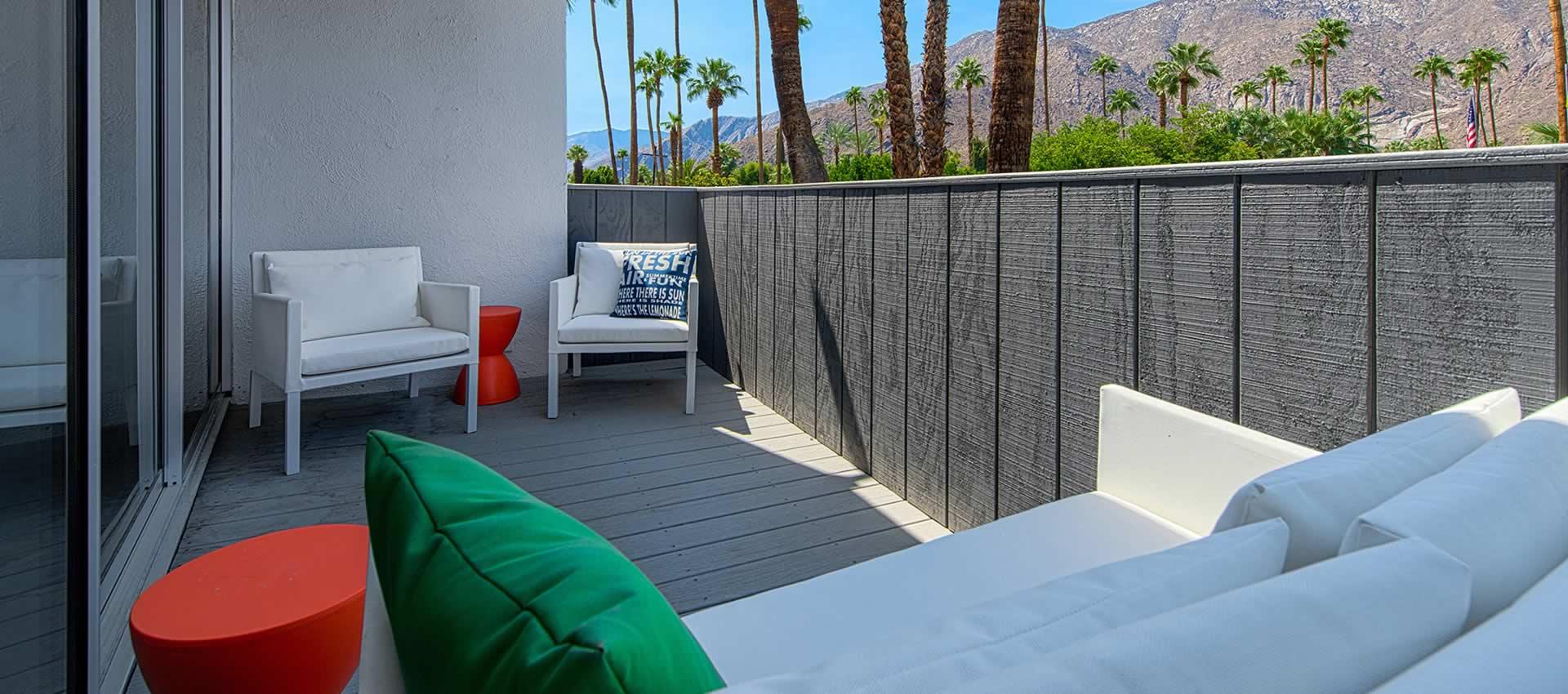 twist hotel studio room balcony mountains palm trees