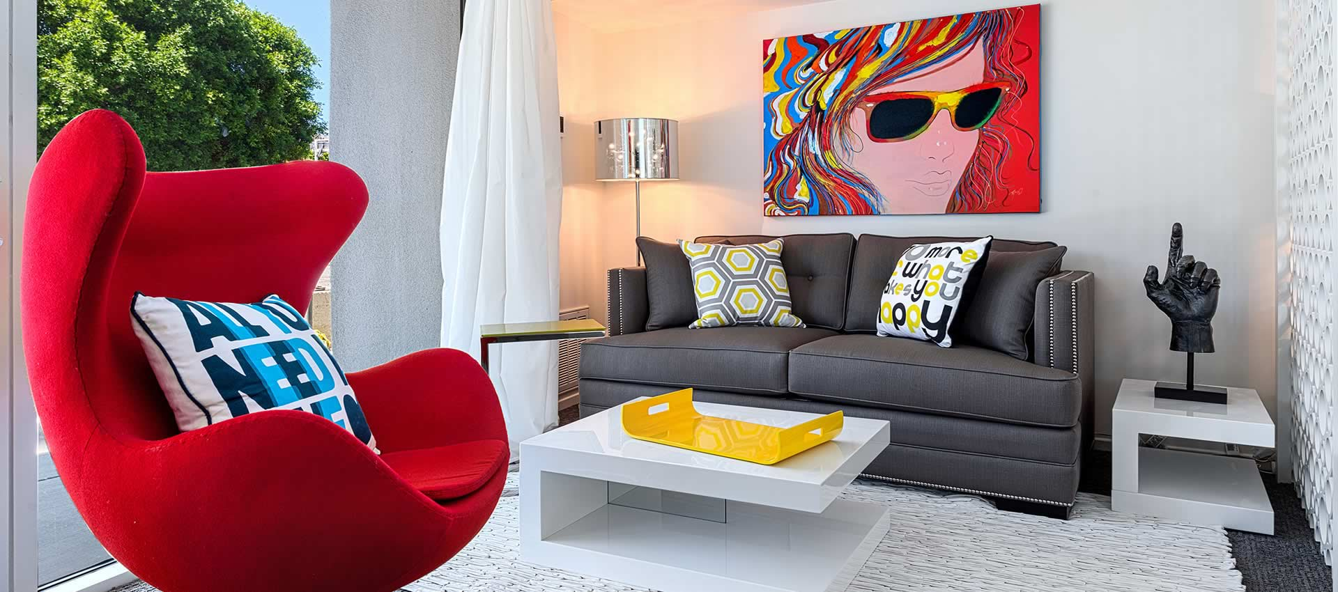 Twist Hotel Studio Units living area modern couch and chair