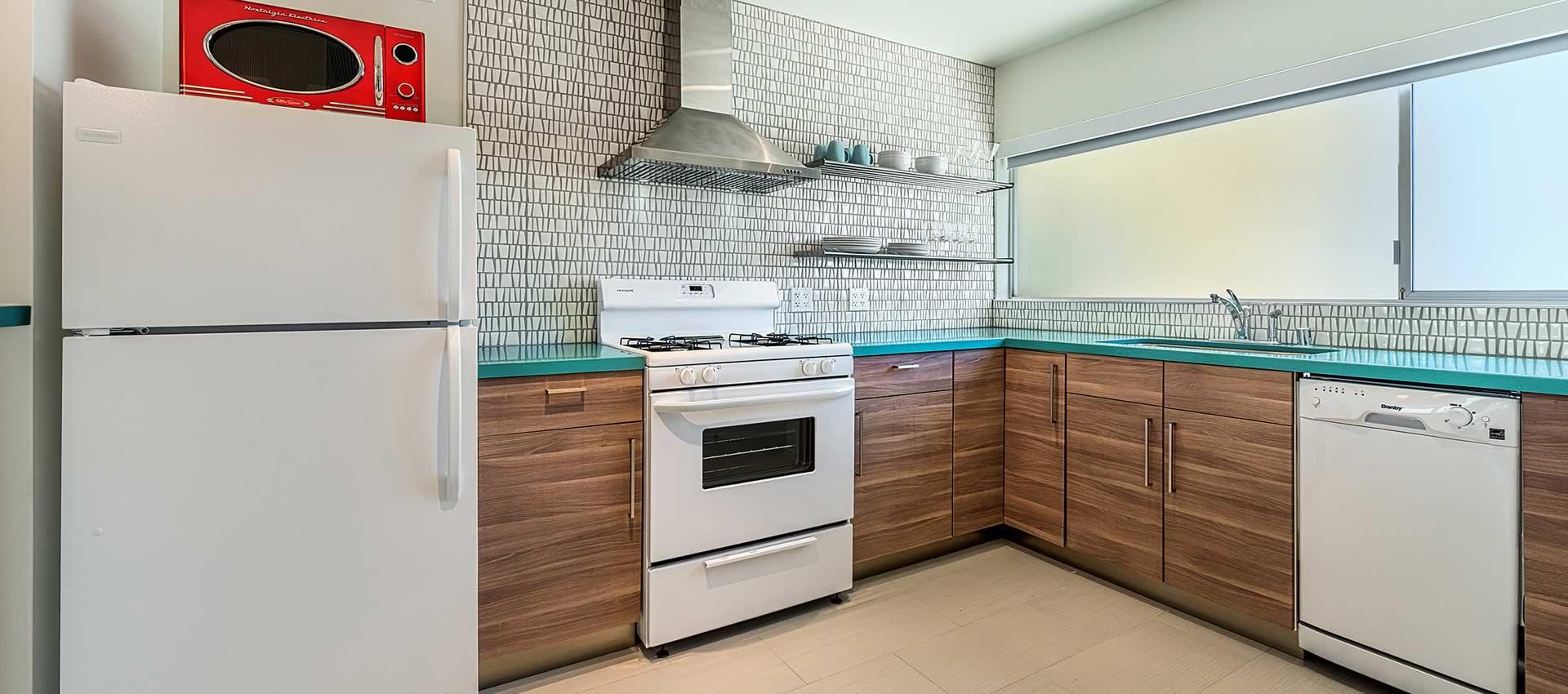 twist hotel studio room modern bright kitchen