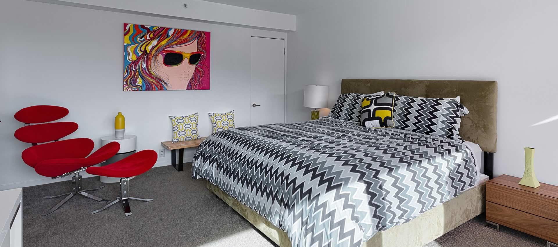 twist hotel bedroom modern king bed