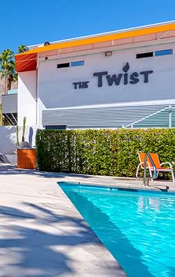 The pool at The Twist Hotel in Palm Springs